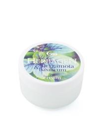 Body cream with bergamot and basil