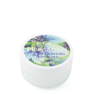 Body cream with bergamot and basil
