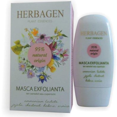 Herbagen_Masca_Exfolianta_Ten_Sensibil_Cuperozic